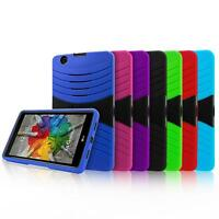 Heavy Duty Combo Shockproof Stand Box Defender Hard Case Cover For 7 Inch Tablet