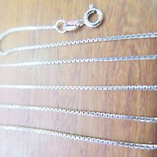 Necklace 0.8mm Box Link Chain S925 18 inches Solid 925 Sterling Silver