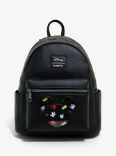 Official Loungefly Disney Mickey Mouse Pin Collector Mini Backpack Bag New