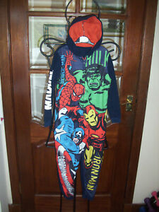 Boys Marvel Avengers Hooded One Piece 7-8 years