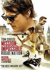 Mission: Impossible Rogue Nation Dvd The Movie Tom Cruise Rebecca Ferguson 2015