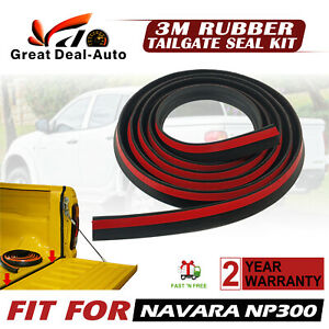 3M Rubber Tailgate Seal Kit fit for Nissan Navara NP300 Ute Dust Water Seal Kit