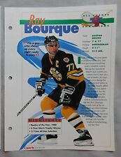 RAY BOURQUE BOSTON BRUINS #57 HOCKEY CHAMPIONS SPORTS HEROES BOOKLET