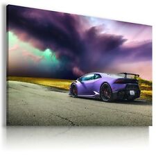 LAMBORGHINI HURACAN  PURPLE Sports Cars Wall Art Canvas Picture AU495 X  MATAGA