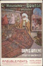 Persian Rugs Tapis D'Orient Bruxelles Arab Man Ameublements Postcard jrf