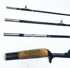 Vintage Zebco Zebflex Tubular Fiberglass 6 Foot 4 Pc Bait Casting Pack Rod #6104