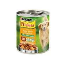 Tin food wet for dogs PURINA FRISKIES with ox, chicken and vegetables