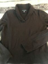 sarah spencer brown angora sweater sz xl