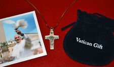 POPE FRANCIS Blessed Crucifix Good Shepherd CROSS COA Holy Vatican WATER Charity
