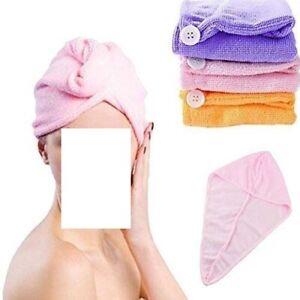 Turban Hair Drying Absorbent Microfiber Towel Dry Shower Caps Bathrobe Hat Magic
