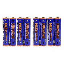 8 pcs 1150mWh AAA 3A NiZn 1.6V Volt Rechargeable Battery HR03 Ultracell US Stock