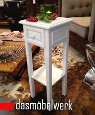 Telefontisch Schublade und Ablage Beistelltisch Landhaus Shabby Weiß 01.037.01
