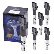 Set of 6 Herko B155 Ignition Coils For Audi Porsche Volkswagen V6 V8 2004-2010