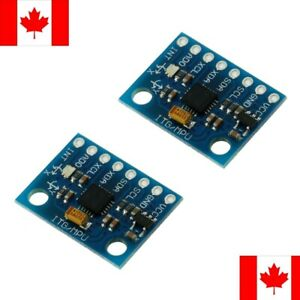 2 Pack MPU-6050 6-Axis 6DOF Gyroscope and Accelerometer GY-521 Module Arduino