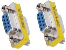 2pcs DB9 Female to Female Adapter Gender Changer Serial RS232 Coupler