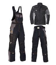 Arbeitsbekleidung Berufskleidung Arbeitshose Arbeitsjacke Latzhose (VIS-SCHW)