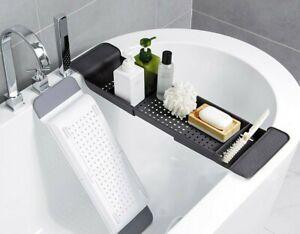 Bathroom Shelf Bathtub Tray Shower Caddy Bamboo Bath Tub Rack Towel W