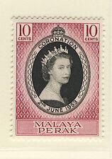MALAYA PERAK 1953 CORONATION BLOCK OF 4 MNH