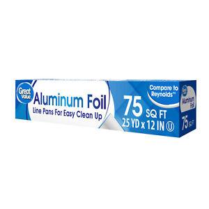 Great Value 75 sq ft Aluminum Foil
