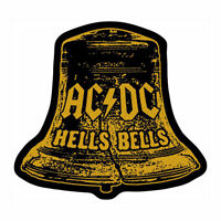 AC/DC Hells Bells Woven Sew On Patch Cutout Official Licensed Band Merch