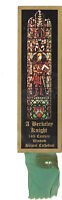 Bookmark Shield Bristol Cathedral Abbey Berkeley Medieval Knight Stained Glass