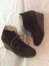 2dd3f9d0203 ESPRIT Brown Ankle Suede Boots Size 39