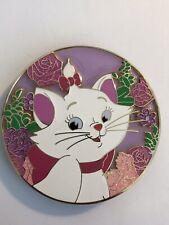 Marie Aristocats Bows Purple Flowers Circle Glitter Pink Fantasy Pin