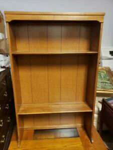 "VINTAGE ETHAN ALLEN BOOKCASE CUSTOM ROOM PLAN (CRP) BOOKCASE HUTCH TOP, 30"" (B)"