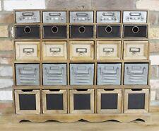Industriel Meuble de Rangement 25 tiroirs bois Organisateur Armoire poitrine meubles NEUF