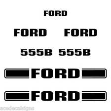 Ford 555B Decals 555B Stickers Backhoe loader Decal set sticker kit