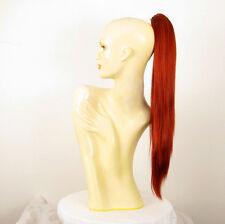 Postizo coleta cola largo 70 cm rojizo cobrizo intenso 7 en 350 peruk