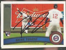 Minnesota Twins RENE TOSONI autographed 2011 Topps