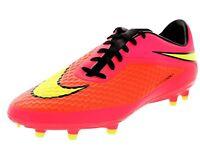 NIKE Men's Hypervenom Phelon FG Soccer Shoes Cleats - Bright Crimson/Hyper Punch