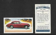 Post - 2nd World War Motor Cars/Bikes Collectable Tea Cards