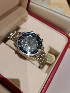 Omega Seamaster 2225.80.00 Auto Chrono Blue Stainless Steel Box & Papers 2013