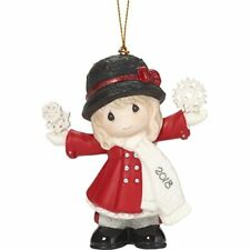 """Precious Moments""""Have A Magical Holiday Season Dated 2018 Girl Ornament, Multico"""