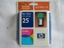 HP 25 Tri-color Inkjet Cartridge 51625A NEW OEM Single Unit 08/02