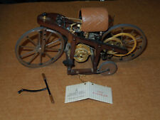 Franklin Mint 1885 Daimler Single Track Motor Vehicle 1:8 As Is. Missing Piece