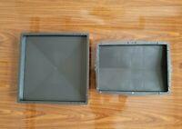 Set of 2 Concrete Paving Garden Path Slab Brick Plastic Floor Tile Mould