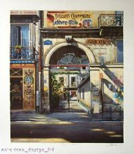 "Louis Robichaud ""Passage St Antoine"" French Hand Signed Original Serigraph, OBO!"