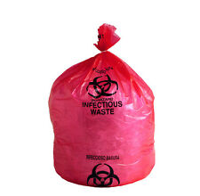 """Biohazard Bags HD Red Infectious Waste Liners 0.5 Mil 31"""" x 43"""" 250 Per Case"""