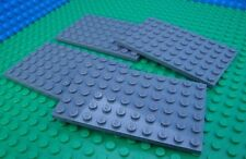 Lego Dark Grey Base Plates Baseplates 6x10 City Town Pirates Castle Kingdoms