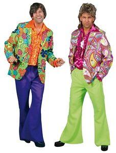 70er 80er Jahre Jacke Kostüm Flowerpower Herren Hippie Hippy Party Disco Jackett