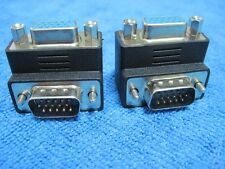 2pc right angle 90 degree 15pin VGA M/F male to female monitor adapter connector