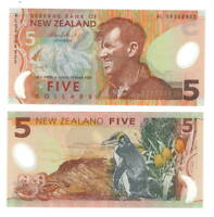 NEW ZEALAND $5 Dollars POLYMER Banknote (2009) P-185b Sir Edmund Hillary UNC