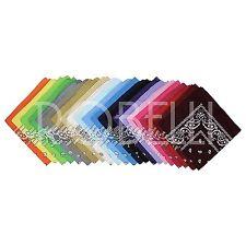 100% Cotton Assorted Paisley Pattern Bright Multicolour Hip Hop Bandanas -12 Set