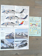"SH-60B/F SEAHAWK ""3 USN/CHARGERS/SCORPIONS"" MIKE GRANT DECALS 1/48"