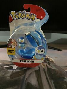 "Pokèmon - Piplup + Dive Ball -  Battle Ready - Clip N Go 3"" Figure #97899 New"