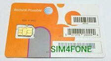 Att Nano SIM Card for iPhone 5, 5c, 5s, 6, 6 Plus, 7, 8, X, and iPad Air