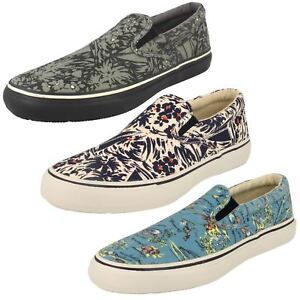 Mens Sperry This Sole Canvas Shoes *Striper So*